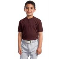 Sport-Tek® Youth Short Sleeve Henley